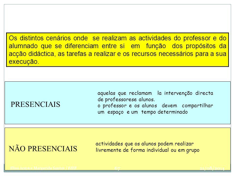Modalidades Organizativas Os distintos cenários onde se realizam as actividades do professor e do alumnado que se diferenciam entre si em função dos p