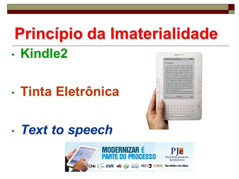 Princípio da Imaterialidade Kindle2 Tinta Eletrônica Text to speech