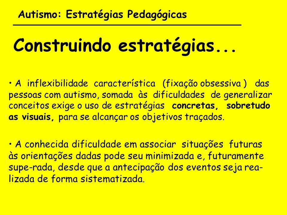 Autismo: Estratégias Pedagógicas ___________________________________ Construindo estratégias... A inflexibilidade característica (fixação obsessiva )