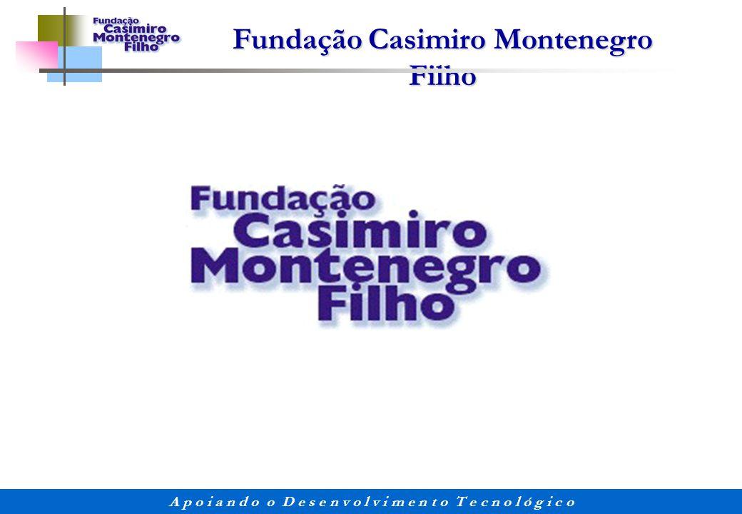 Fundação Casimiro Montenegro Filho A p o i a n d o o D e s e n v o l v i m e n t o T e c n o l ó g i c o