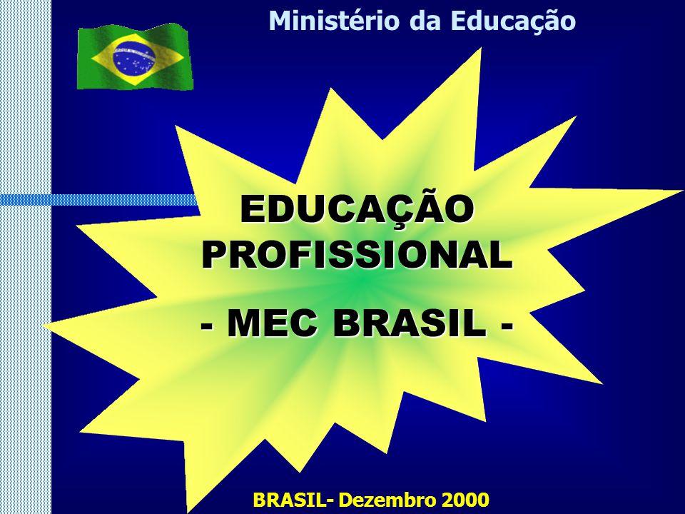 BRASIL- Dezembro 2000 Ministério da Educação EDUCAÇÃO PROFISSIONAL - MEC BRASIL -