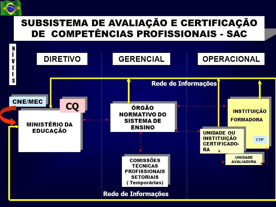 ÓRGÃO NORMATIVO DO SISTEMA DE ENSINO Rede de Informações MINISTÉRIO DA EDUCAÇÃO MINISTÉRIO DA EDUCAÇÃO CNE/MEC DIRETIVOGERENCIALOPERACIONAL SUBSISTEMA