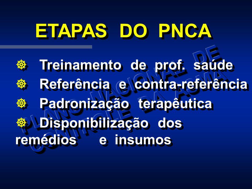 ] Treinamento de prof. saúde ] Referência e contra-referência ] Padronização terapêutica ] Disponibilização dos remédios e insumos ] Treinamento de pr