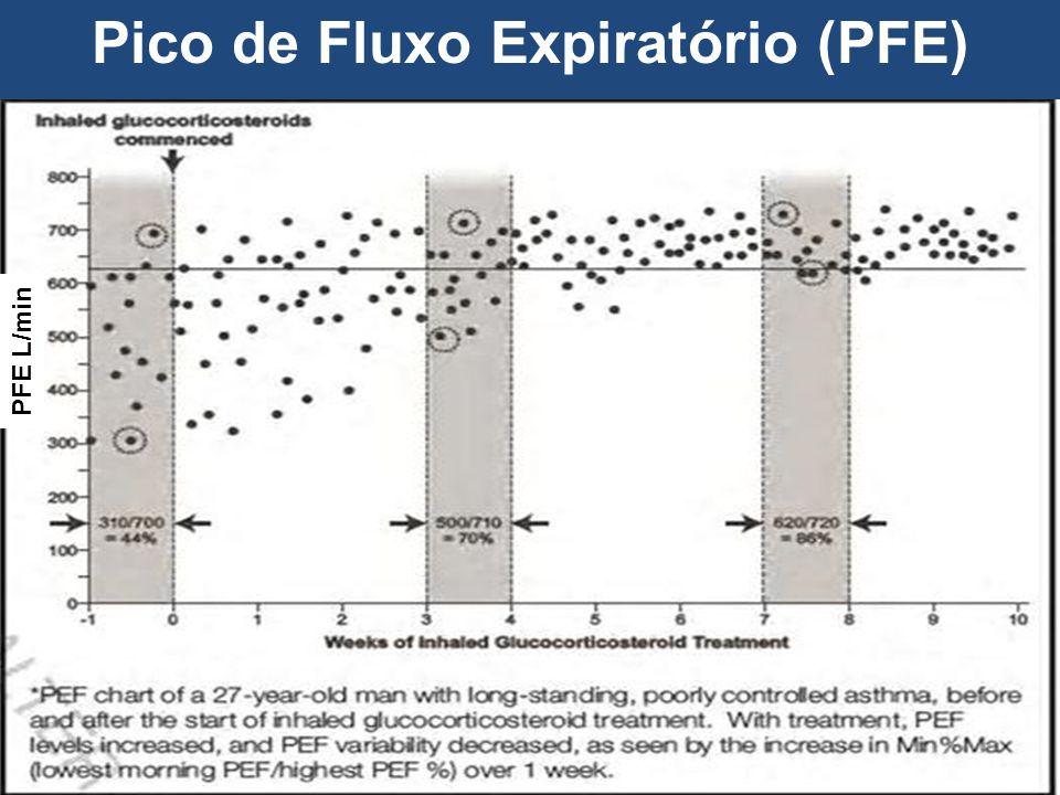 Pico de Fluxo Expiratório (PFE) PFE L/min
