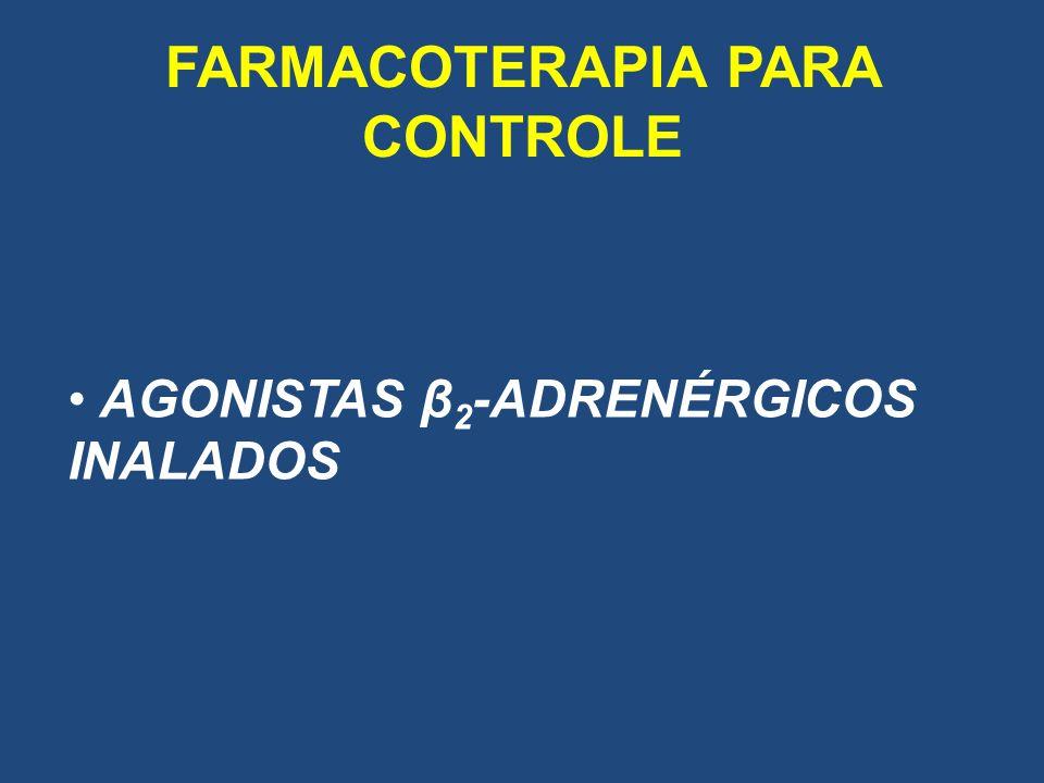 FARMACOTERAPIA PARA CONTROLE AGONISTAS β 2 -ADRENÉRGICOS INALADOS