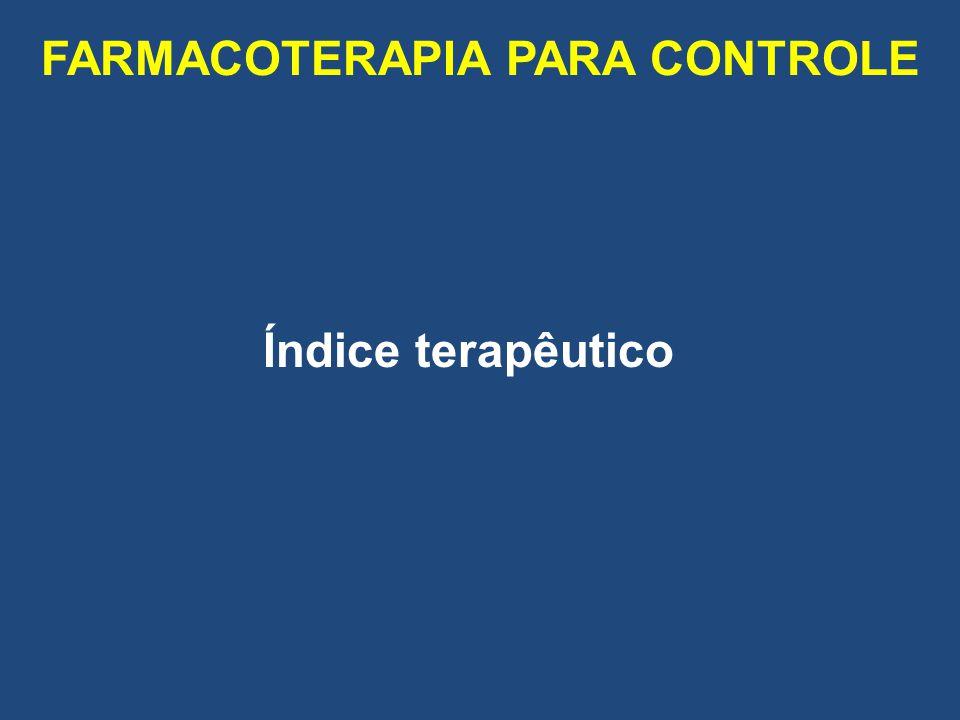 FARMACOTERAPIA PARA CONTROLE Índice terapêutico