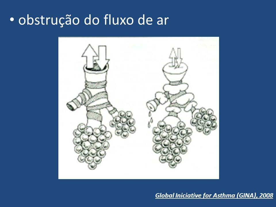 obstrução do fluxo de ar Global Iniciative for Asthma (GINA), 2008