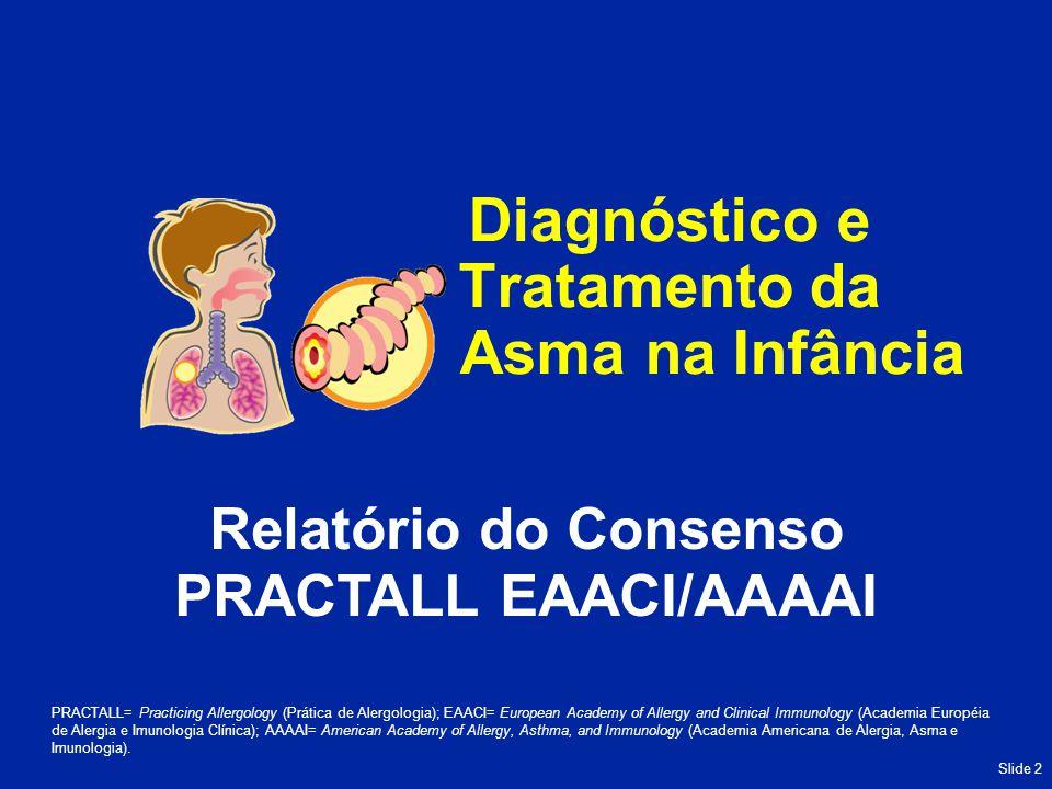 Slide 13 Adjuvante a CI na asma parcialmente controlada/não controlada Eficácia não bem documentada em crianças Por questões de segurança, o uso deve ser restrito ao tratamento adjuvante de CI, quando indicado Combinação de tratamento LABA/CI licenciada para uso em crianças >4 a 5 anos de idade; no entanto, os efeitos de LABAs ou combinações com LABA não foram adequadamente estudados em crianças com menos de 4 anos de idade Recomendações sobre LABAs Adaptado de Bacharier LB, et al.