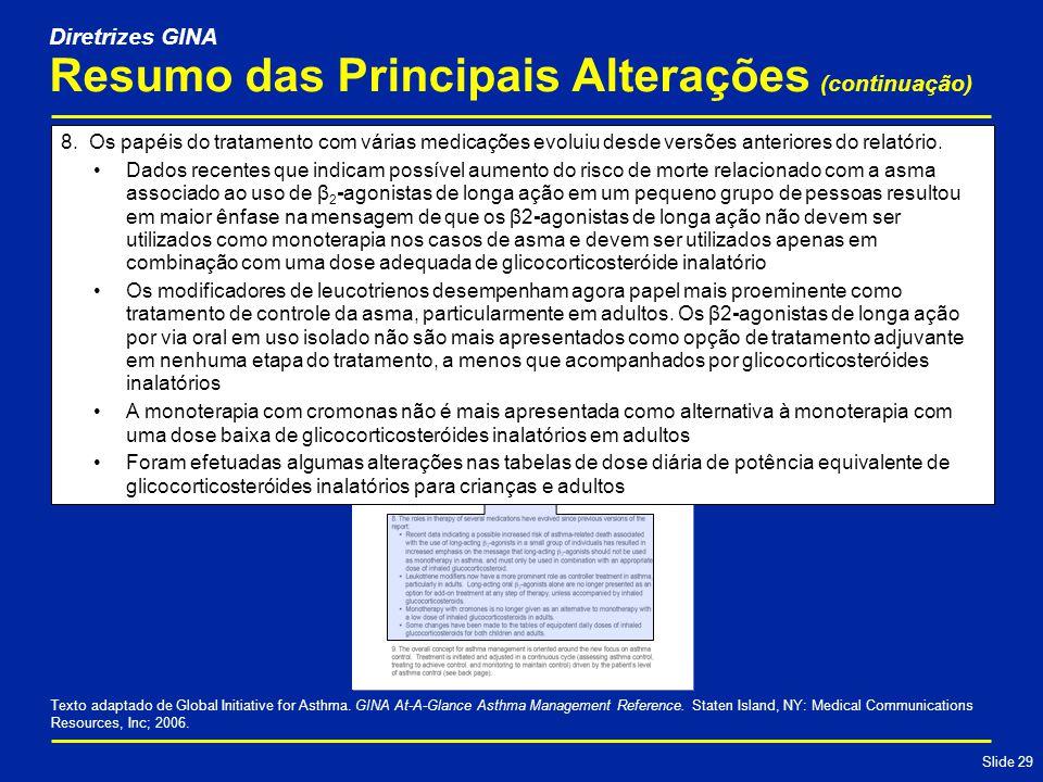 Slide 29 Resumo das Principais Alterações (continuação) 8.