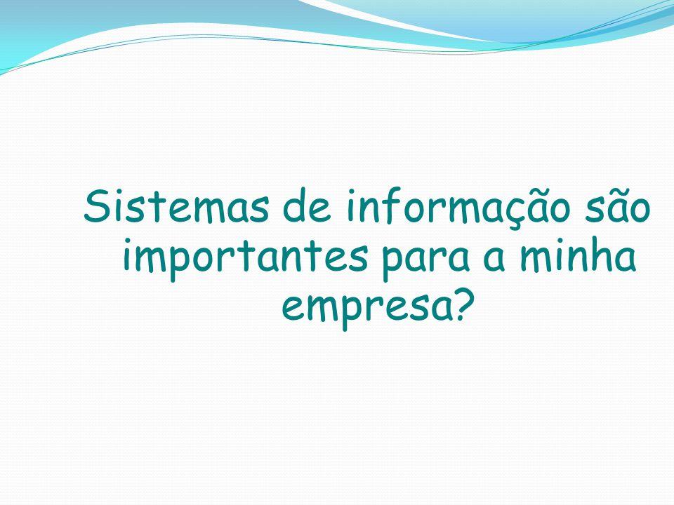 Sistemas de informação são importantes para a minha empresa?