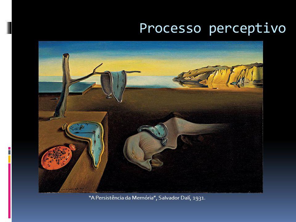 """Processo perceptivo """"A Persistência da Memória"""", Salvador Dalí, 1931."""