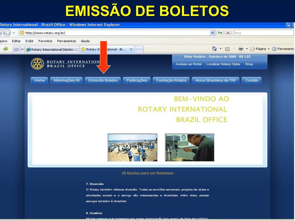 EMISSÃO DE BOLETOS