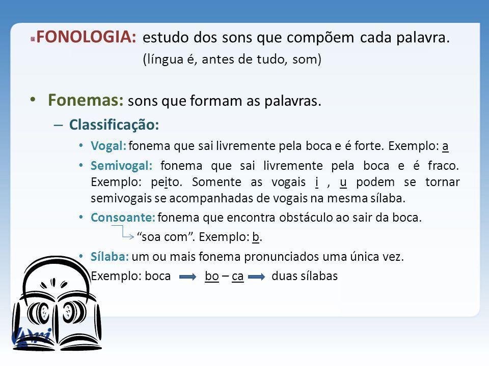 Encontro vocálico : encontro de vogais e semivogais – Classificação: hiato: vogal + vogal em sílabas diferentes.