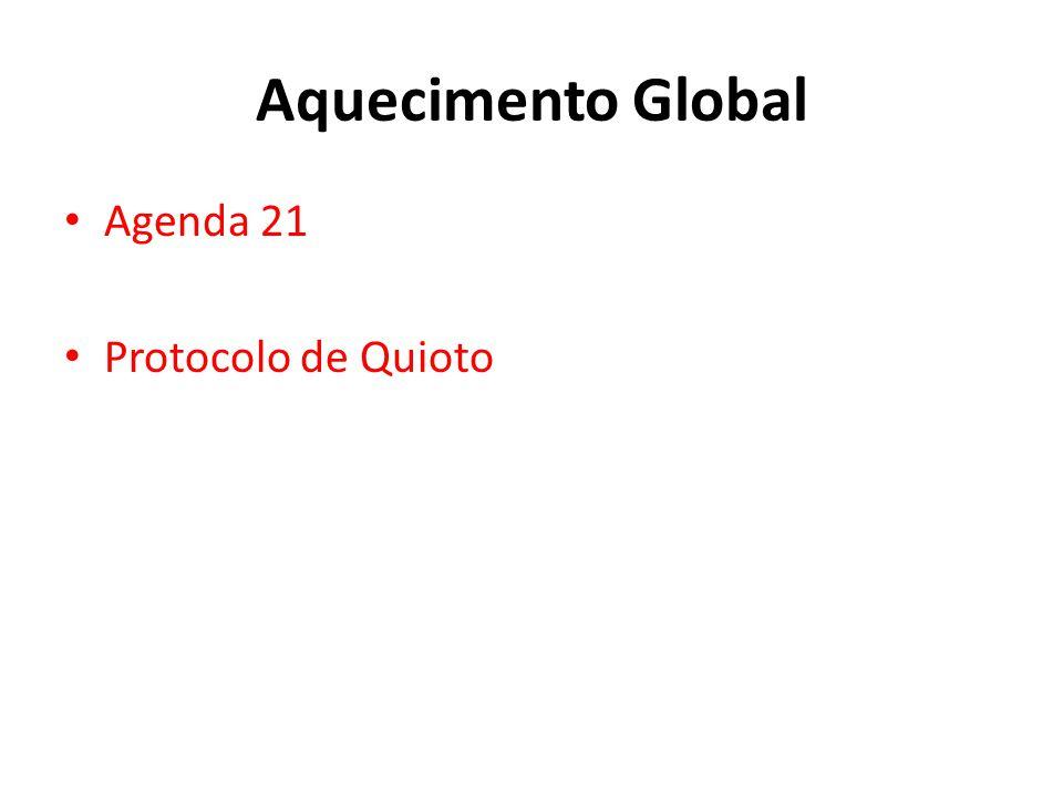 Aquecimento Global Agenda 21 Protocolo de Quioto