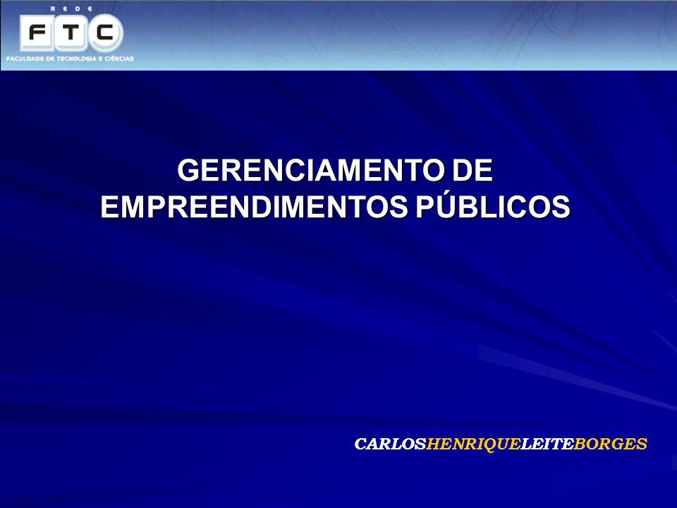 GERENCIAMENTO DE EMPREENDIMENTOS PÚBLICOS CARLOSHENRIQUELEITEBORGES