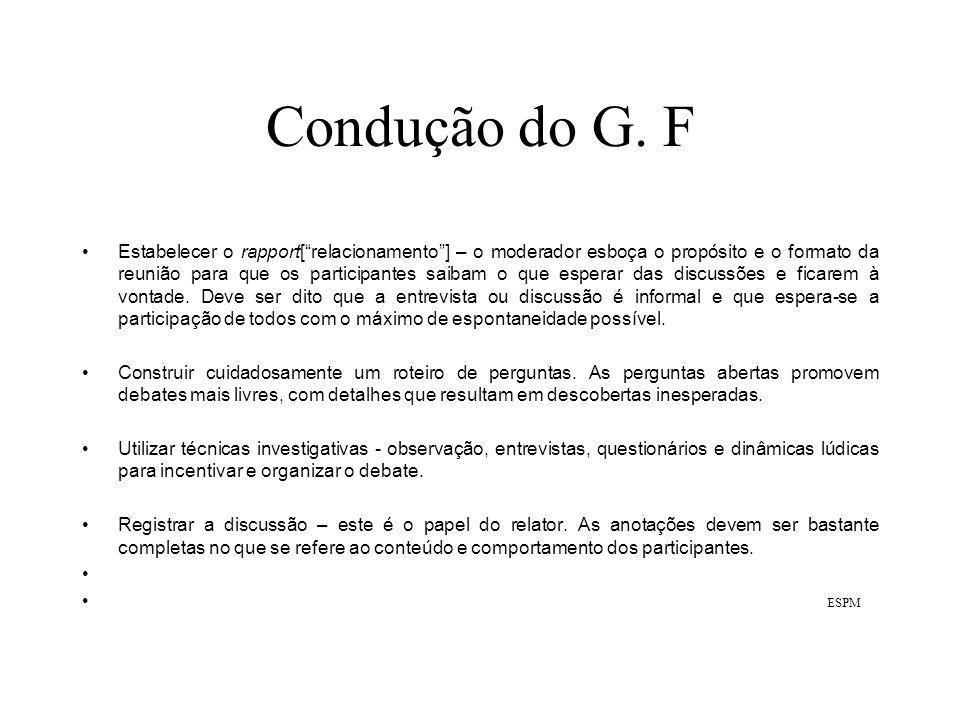 Condução do G.