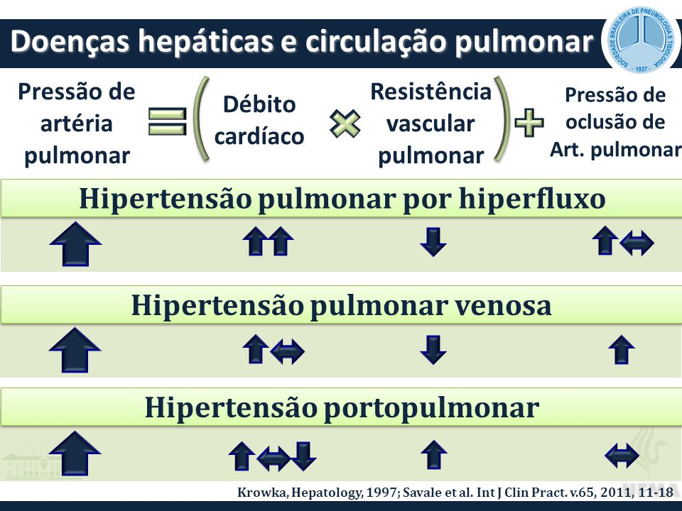 HAP associada a esquistossomose TratamentoTratamento 12 pacientes com HAP associada a esquistossomose Sildenafil (7), bosentana (4), terapia combinada (1) Tempo de tratamento 34,9± 15,5 meses Melhora de CF-NYHA Melhora de CF-NYHA Melhora de TC6min Melhora de TC6min Melhora hemodinâmica Melhora hemodinâmica 439±85m 492±79m (p=0,032) IC 2,66±0,59 L/min/m 2 IC 3,08±0,68 L/min/m 2 (p=0,028) Fernandes CJC et al, Chest, 2012