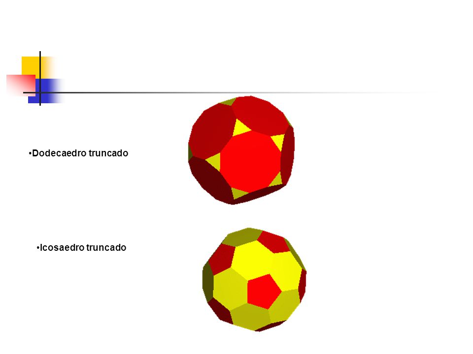 Dodecaedro truncado Icosaedro truncado