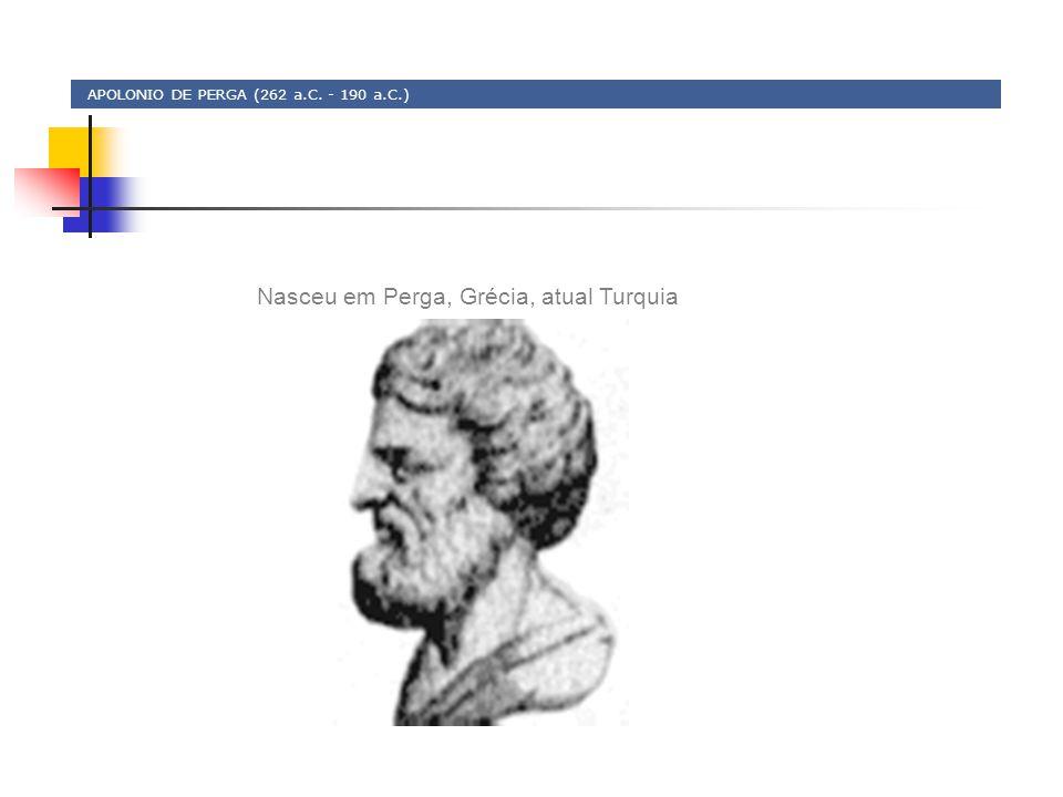 APOLONIO DE PERGA (262 a.C. - 190 a.C.) Nasceu em Perga, Grécia, atual Turquia