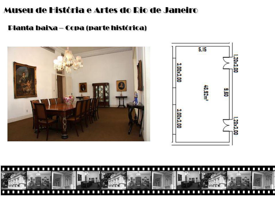 Museu de História e Artes do Rio de Janeiro Planta baixa – Copa (parte histórica)