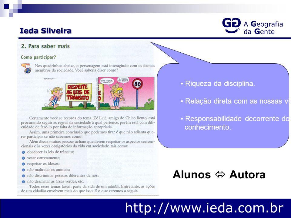 A Coleção http://www.ieda.com.br Estudar a geografia a partir da vida e do cotidiano das pessoas