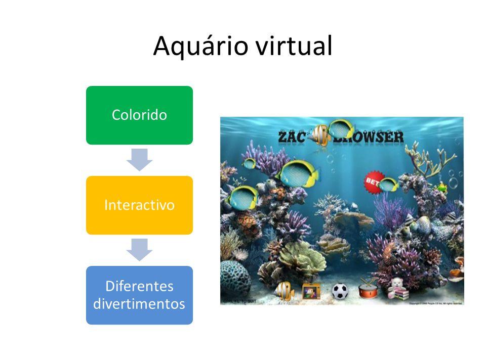 Aquário virtual ColoridoInteractivo Diferentes divertimentos