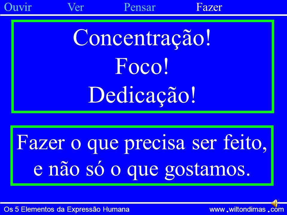 Os 5 Elementos da Expressão Humana www wiltondimas com ● ● Concentração.