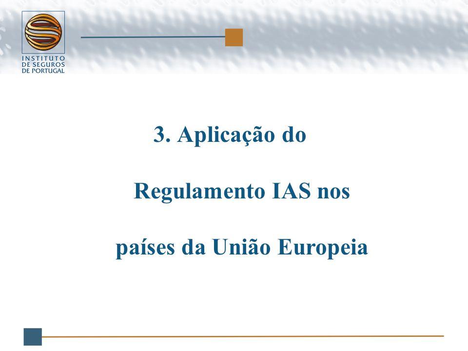 3.Aplicação do Regulamento IAS nos países da União Europeia