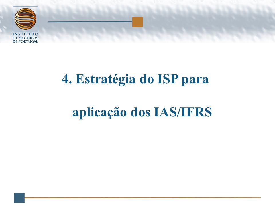 4.Estratégia do ISP para aplicação dos IAS/IFRS