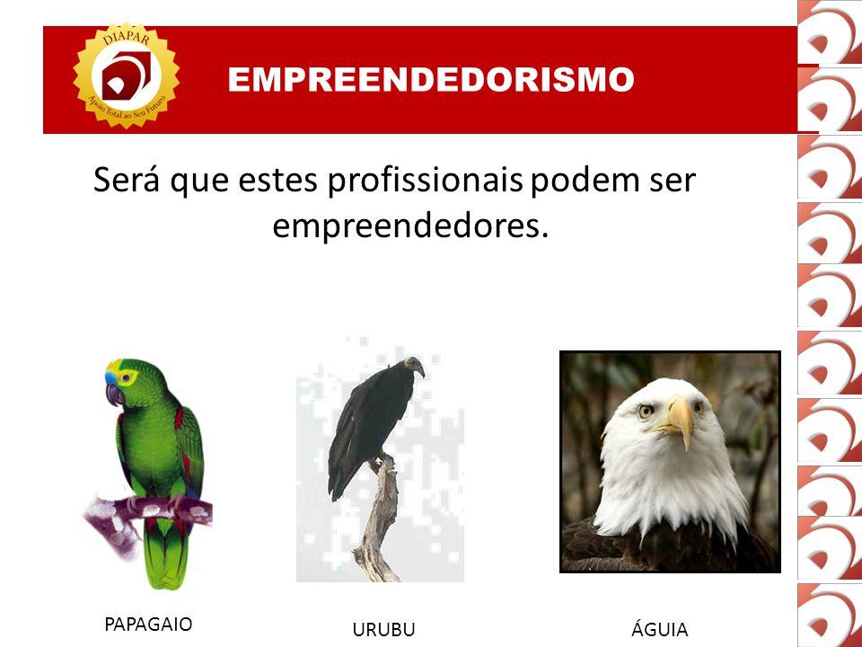 Será que estes profissionais podem ser empreendedores. PAPAGAIO URUBUÁGUIA