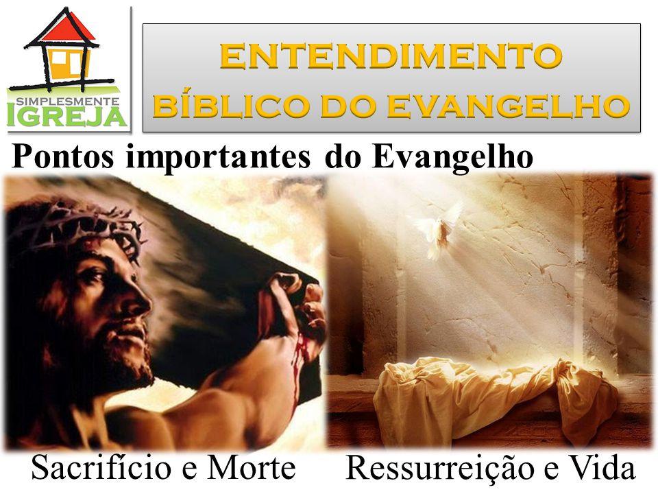 Sacrifício e Morte Ressurreição e Vida Pontos importantes do Evangelho