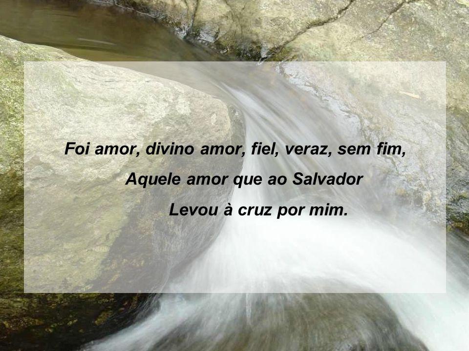 Foi amor, divino amor, fiel, veraz, sem fim, Aquele amor que ao Salvador Levou à cruz por mim.