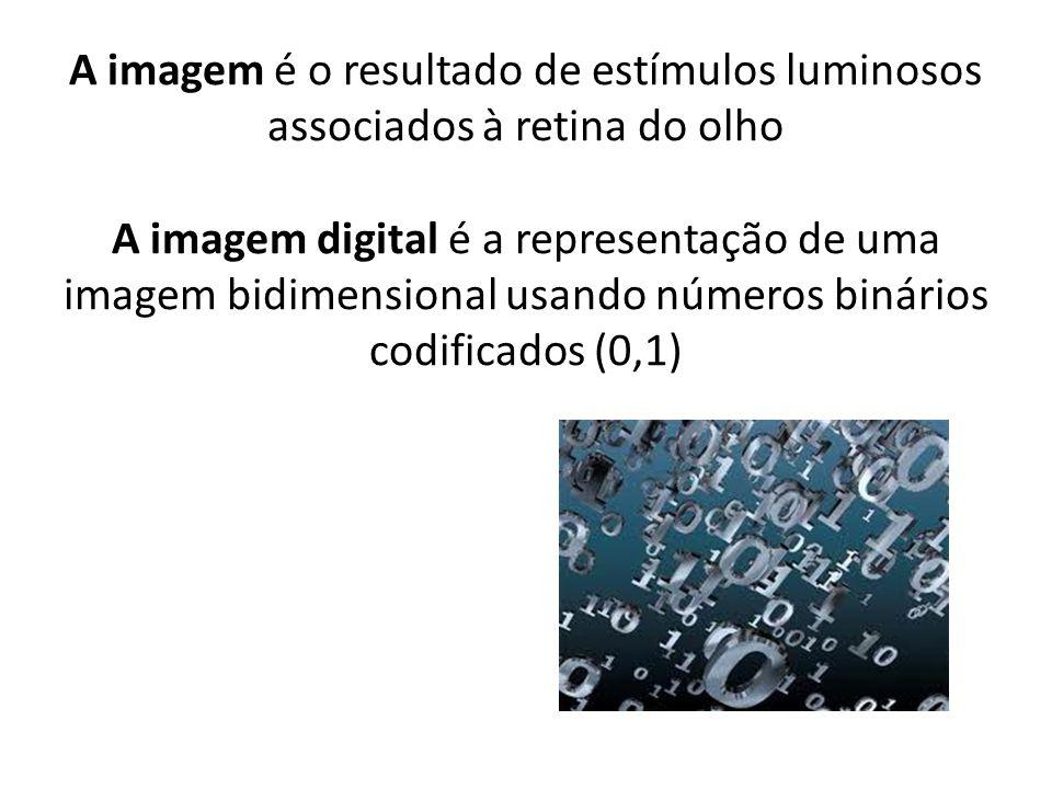 Imagem digital Vectorial Bitmap (raster).rectas.aproximações de pontos.pontos (pixels).curvas.polígonos simples.etc imagens (*.jpeg) Desenhos técnicos.Corel draw (*.cdr) Imagem analógica Produção de uma imagem com o auxilio de uma câmara fotográfica
