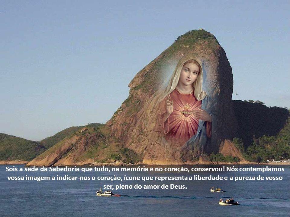 Sois a Mãe Imaculada do Redentor que nos deu a graça do perdão, da filiação e da herança eterna.