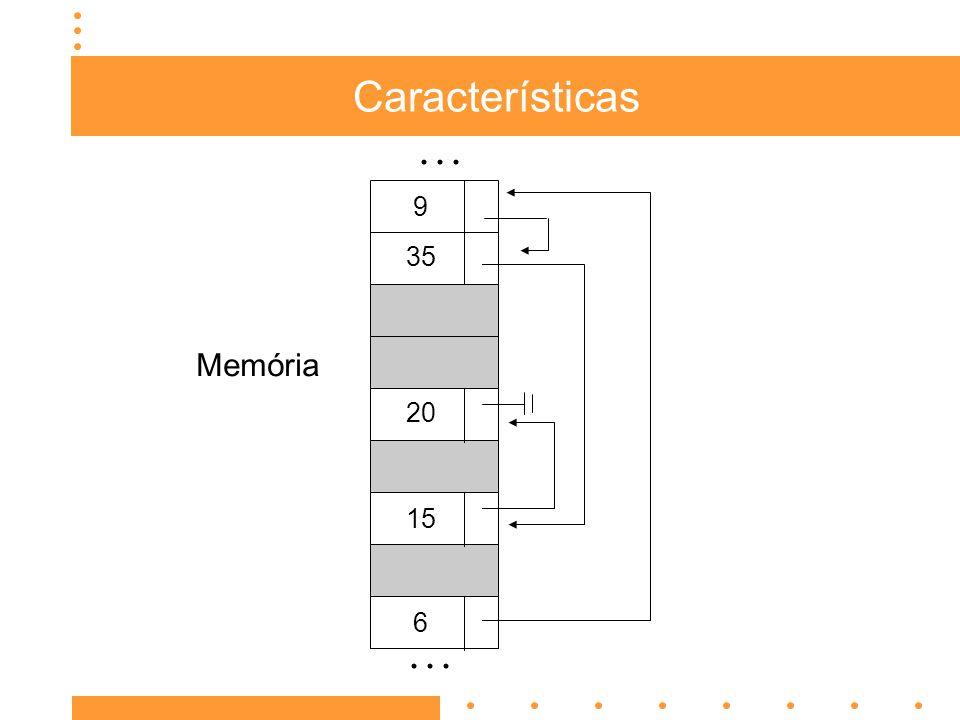 Características... 15 9 35 20 Memória 6
