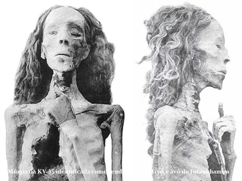 Múmia da KV-35 identificada como sendo a rainha Tiye, e avó de Tutankhamon