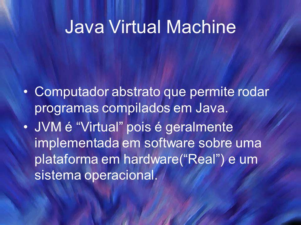 JVM - ByteCodes O programa em Java é tanto compilado como interpretado.
