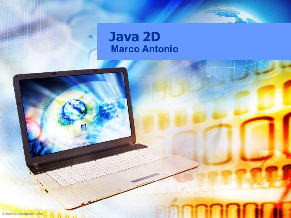 Java2D Conjunto de classes para trabalhar com gráficos e imagens.