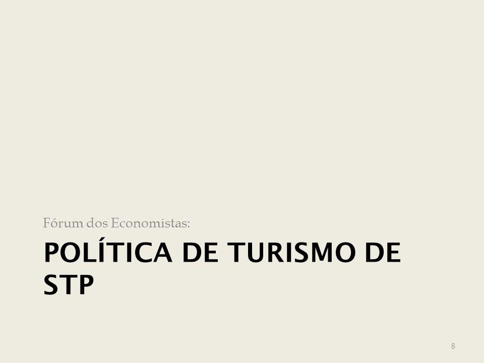 POLÍTICA DE TURISMO DE STP Fórum dos Economistas: 8