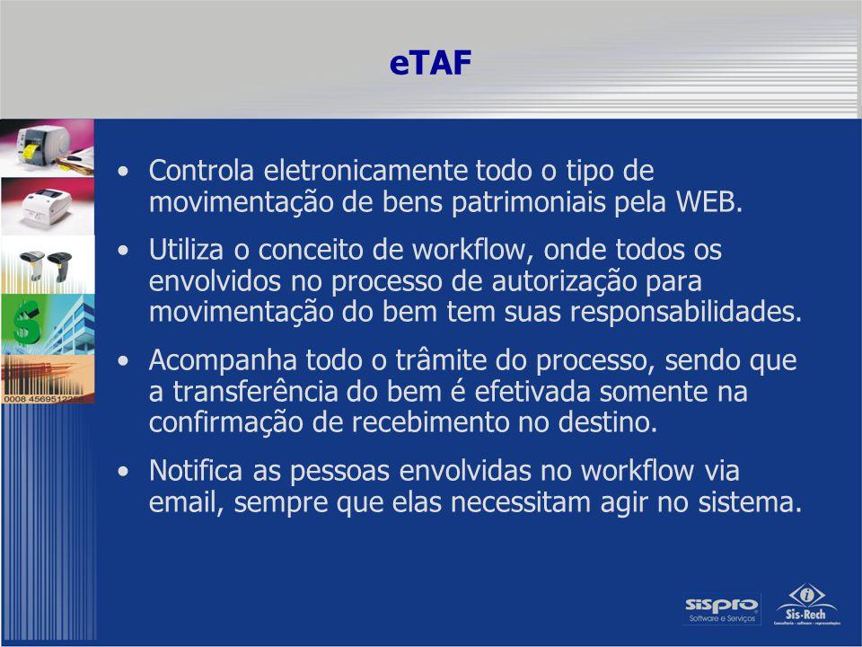eTAF Implementa o aceite/rejeição eletrônica da TAF em cada fase do workflow pelo responsável da fase.