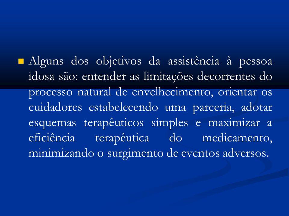 Alguns dos objetivos da assistência à pessoa idosa são: entender as limitações decorrentes do processo natural de envelhecimento, orientar os cuidador