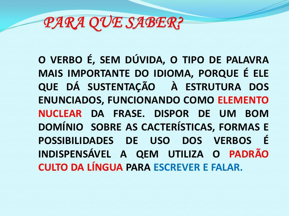 5.O verbo Estar mantém, durante toda a sua conjugação, o mesmo radical.