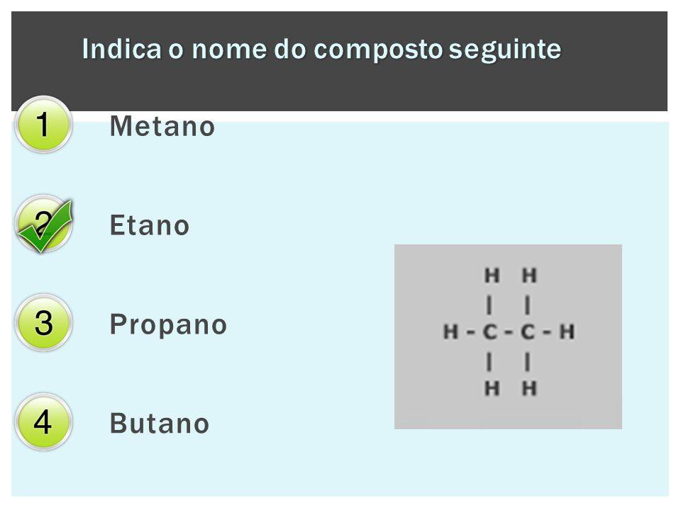 Metano Etano Propano Butano