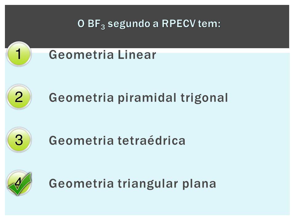 Geometria Linear Geometria piramidal trigonal Geometria tetraédrica Geometria triangular plana
