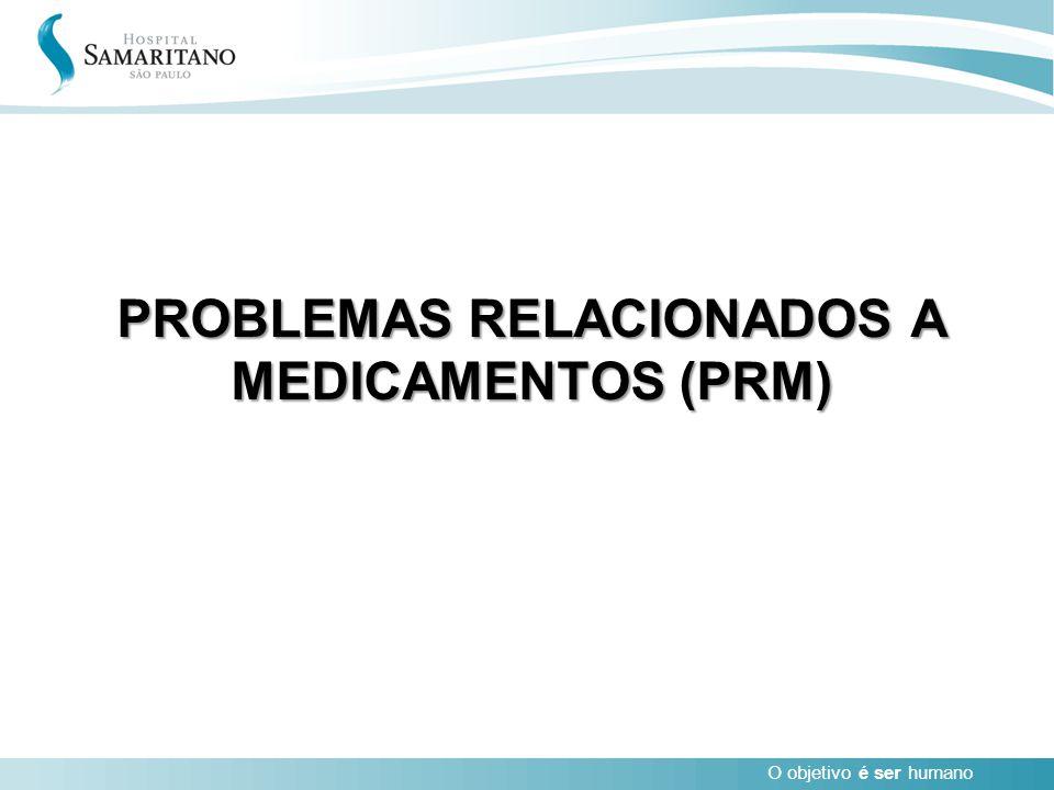 O objetivo é ser humano PROBLEMAS RELACIONADOS A MEDICAMENTOS (PRM)