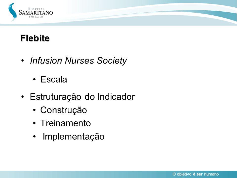 Flebite Infusion Nurses Society Escala Estruturação do Indicador Construção Treinamento Implementação