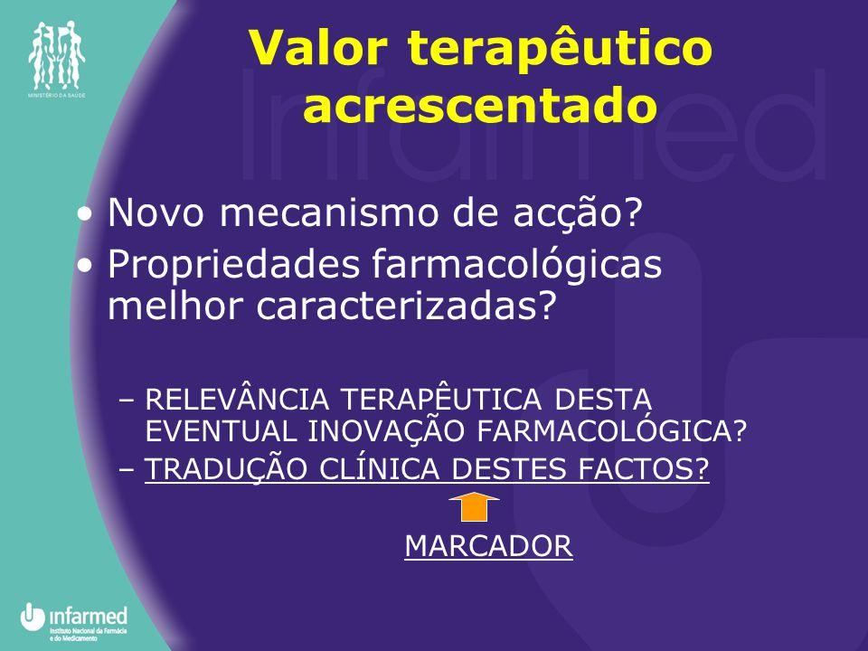 Novo mecanismo de acção? Propriedades farmacológicas melhor caracterizadas? –RELEVÂNCIA TERAPÊUTICA DESTA EVENTUAL INOVAÇÃO FARMACOLÓGICA? –TRADUÇÃO C