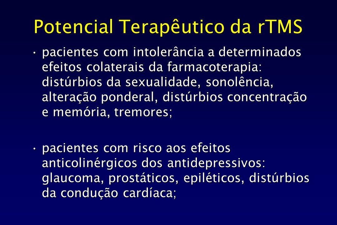Potencial Terapêutico da rTMS pacientes com intolerância a determinados efeitos colaterais da farmacoterapia: distúrbios da sexualidade, sonolência, a