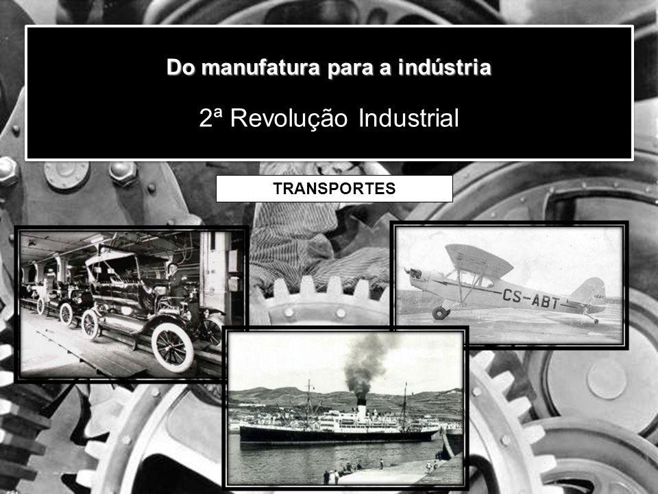 Do manufatura para a indústria Do manufatura para a indústria 2ª Revolução Industrial TRANSPORTES