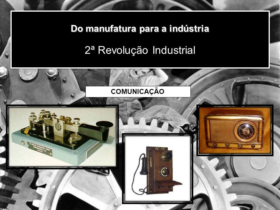 Do manufatura para a indústria Do manufatura para a indústria 2ª Revolução Industrial COMUNICAÇÃO
